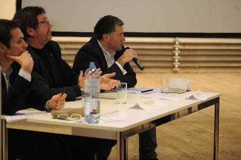 Reinhard Seiß, Volkmar Pamer, Johannes Tovatt. Foto: Joanna Pianka