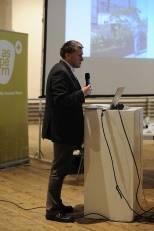 Präsentation Wohnpark Alt Erlaa durch Dr. Reinhard Seiß, Raumplaner, Filmemacher, Fachpublizist. Foto: Joanna Pianka